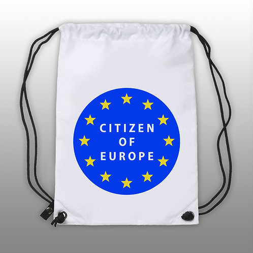 'Citizen of Europe' Draw String Bag