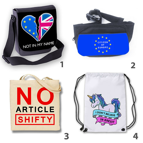Pro- European Union Bags - Shoulder Bag | Bum Bag | Tote Bag | Drawstring Bag