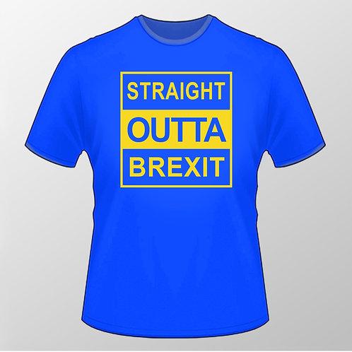 Pro EU Straight Outta Brexit T Shirt | European Union Merchandise | Remain Gifts | Stop Brexit Shop | Europe Merch