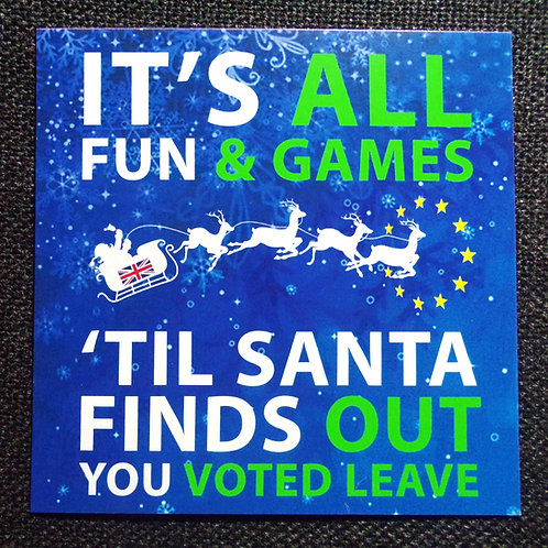 Anti Brexit Christmas Cards | Fun & Games | Anti Brexit Xmas Gifts | Pro EU Merchandise