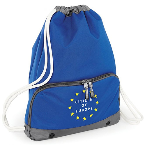 Citizen of Europe - Pocketed Draw String Bag
