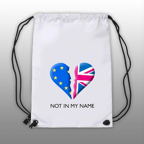 'Not In My Name' - DrawString Bag