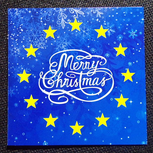 Pro EU Christmas Cards | Merry Christmas | Anti Brexit Xmas Gifts | Pro EU Merchandise | I Heart EU