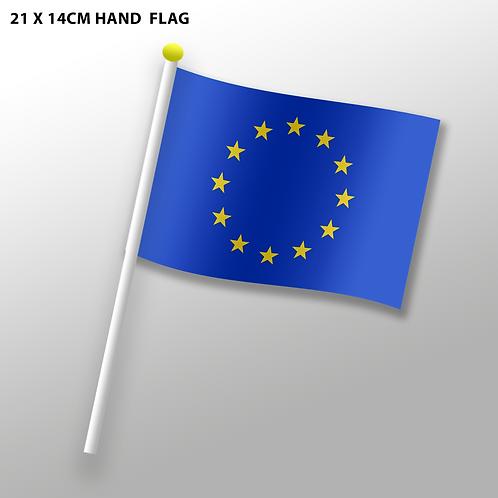EU Hand Flag - 21 cm x 14 cm