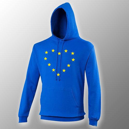 EU Heart Hoodie | Pro EU Hoodie | Anti Brexit Merchandise | European Union Hooded Sweatshirt | I Heart EU