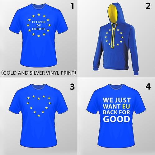 Pro EU T Shirt | Anti Brexit Hoodie | Pro EU Merchandise | I Heart EU