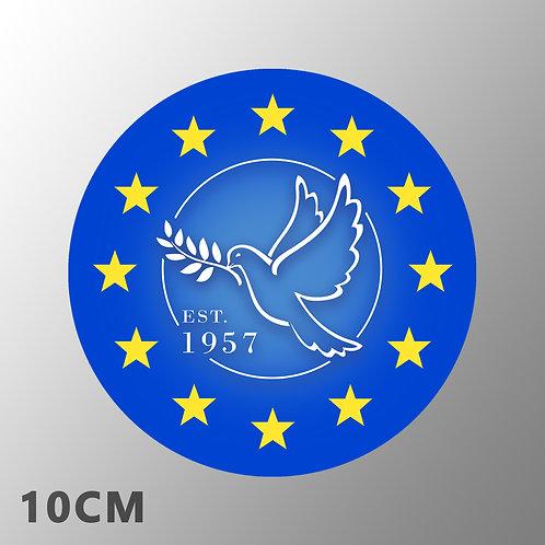 Pro EU Car Sticker | Dove of Peace | Pro EU Gifts | European Union Merchandise | Stickers