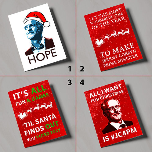 #JC4PM Christmas Cards - Various Designs