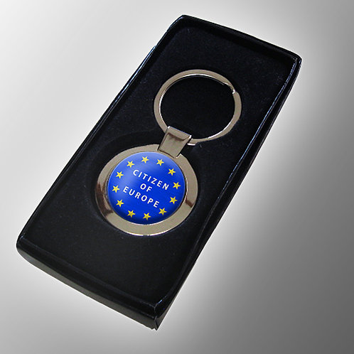 Citizen of Europe Pro EU Chrome Keyring | Stop Brexit | Pro EU Merchandise | Gifts | Keyfob