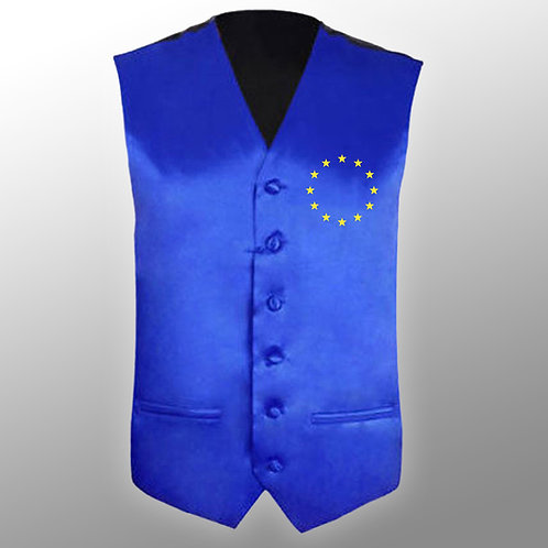 Pro EU Waistcoat | Anti Brexit Merchandise | Pro EU Clothing | Pro EU Suit