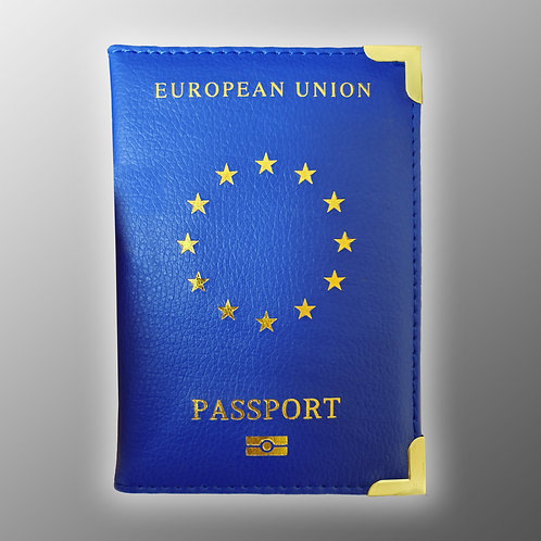 Pro EU Passport Cover Offficial | Blue and Red Passport Covers | European Union | Brexit | Gift | Merchandise | Stop Brexit