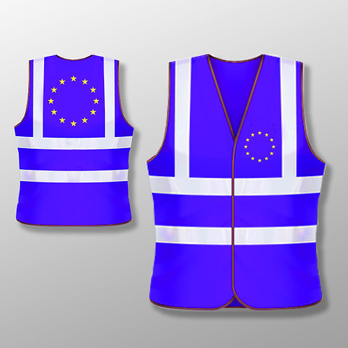 Pro EU High Vis Vest | European Union Merchandise | Anti Brexit Gifts | Clothing | Blue Jackets | I Heart EU