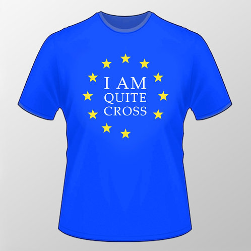 Very British Pro EU T Shirt | Blue | European Union Merchandise | Remain Gifts | Stop Brexit Shop | Europe Merch
