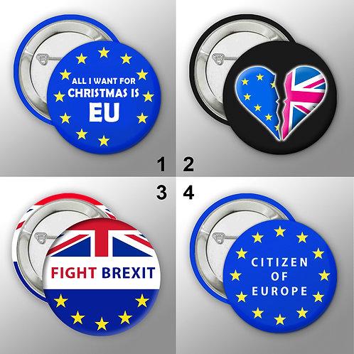 Stop Brexmas Button Badge Collection