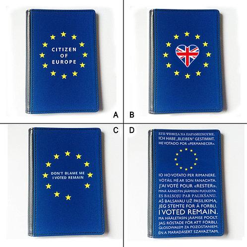 EU Passport Cover | Anti Brexit Passpor Cover | Pro EU Merchandise | Stop Brexit Passport Cover | I Heart EU