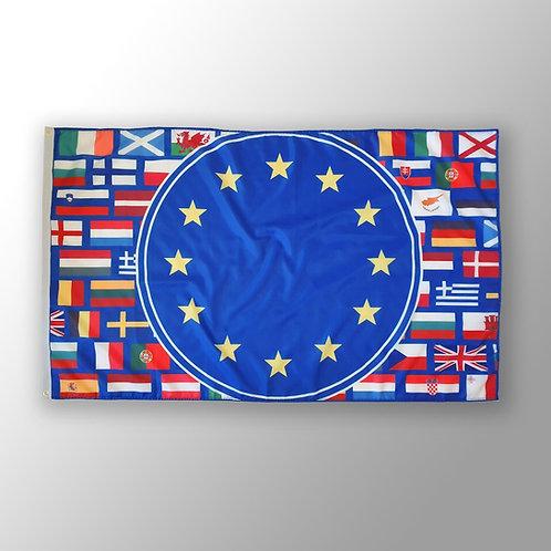 Pro EU Flag | European Union Flag Merchandise | Stop Brexit | UK Flag | French | German | Spain |  Flagge