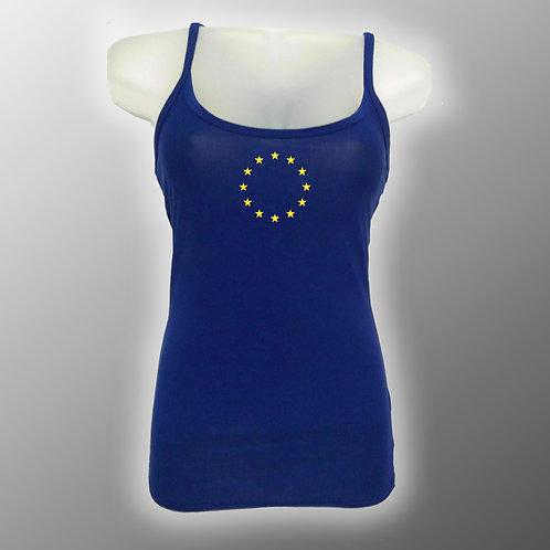 Pro EU Strap Vest Top NEW Stars | Anti Brexit Clothing | EU Heart Stars | I Heart EU | European Union | Gifts