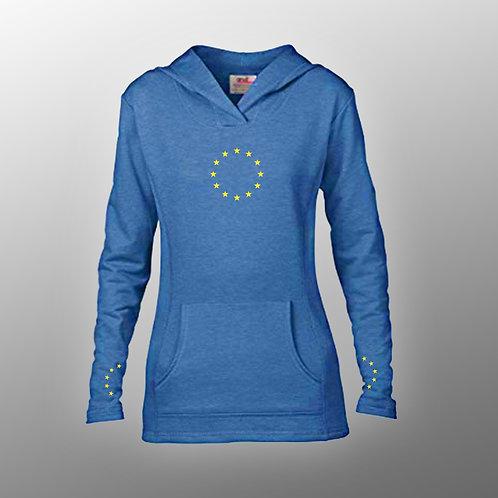 Pro EU Ladies Fashion Hoodie | Wrist Prints | European Union Merchandise | Remain Gifts | Stop Brexit Shop | Europe Merch