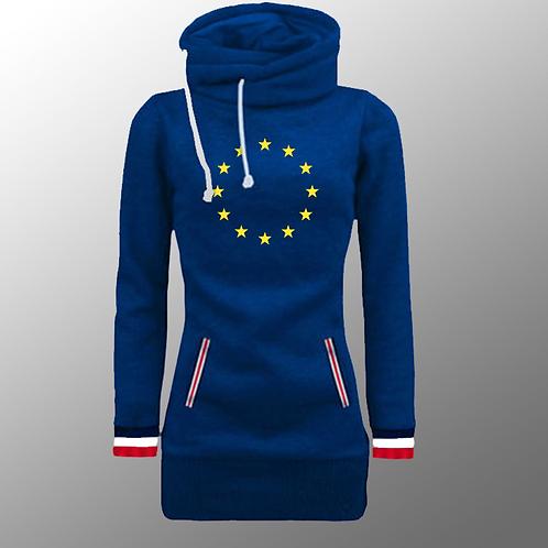 Flag of Europe - Ladies Winter Parka Style Jumper