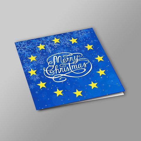 Christmas Card Design.Pro European Union Christmas Cards Various Designs