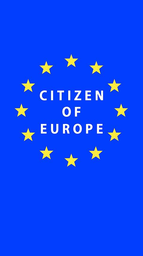 Mobile Phone Free Wallpaper | Citizen of Europe | Pro EU | Anti Brexit