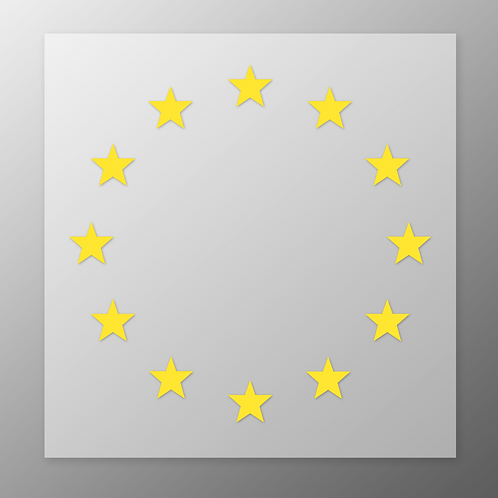EU Flag 'Iron On' Vinyl Transfers