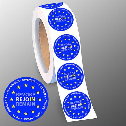 REJOIN EU Stickers | Citizen of Europe 40mm Stickers | Anti Brexit Stickers | Pro EU Merchandise | Pro EU Gifts | I Heart EU