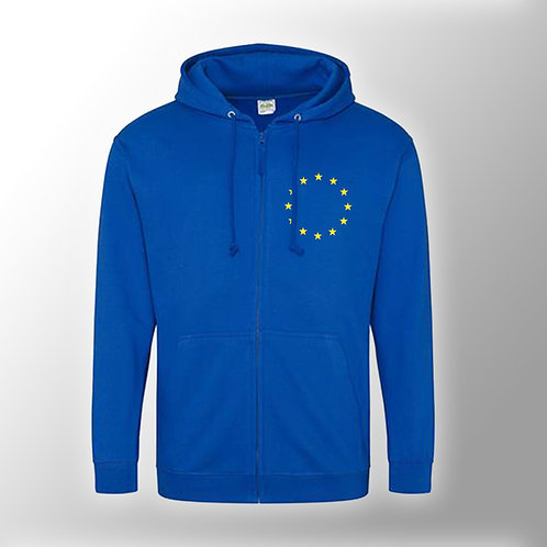 Pro EU Zipped Hoodie NEW | Anti Brexit Merchandise | EU Flag Clothing | European Union Zoodie