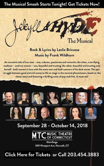 Jekyll and Hyde at Music Theatre of Connecticut