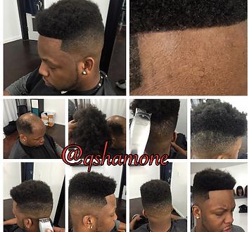 Man Unit Afro Hair 225 Up