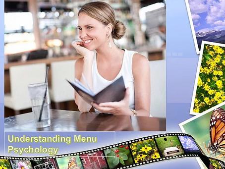 Restaurant Menu 101: Psychology