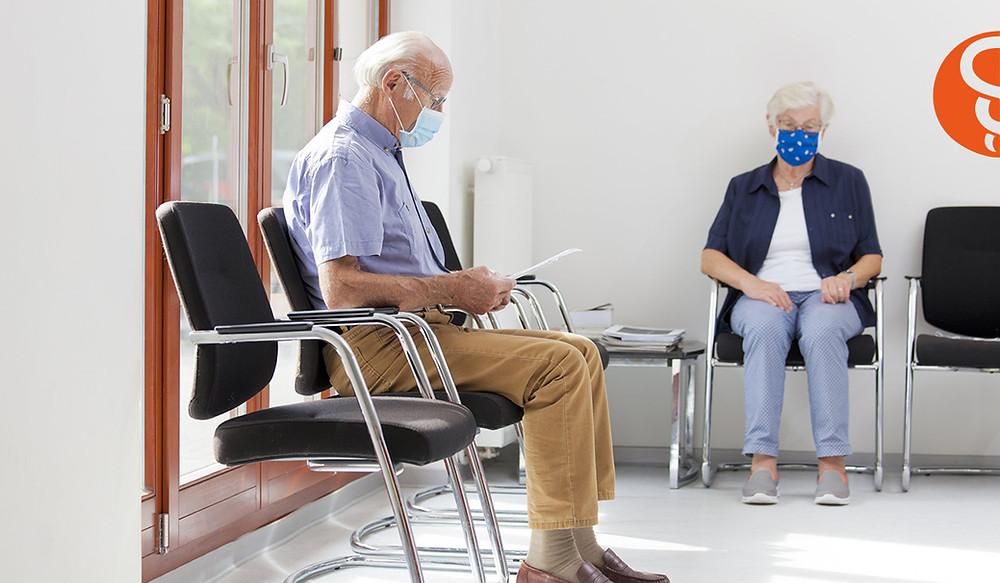 sala de espera en consulta