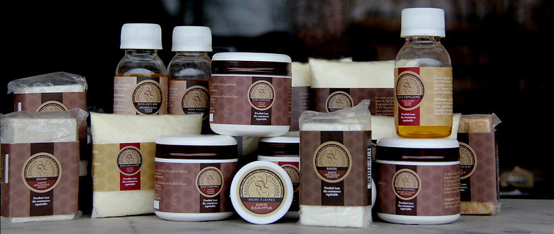 Essences d'ailleurs cosmétiques traditionnels : beurre de karité biologique, huiles végétales naturelles extraites à froid, savons artisanaux
