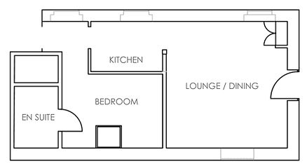 Self Catering Dog Friendly Holiday Cottages Flintshire North Wales Floorplan
