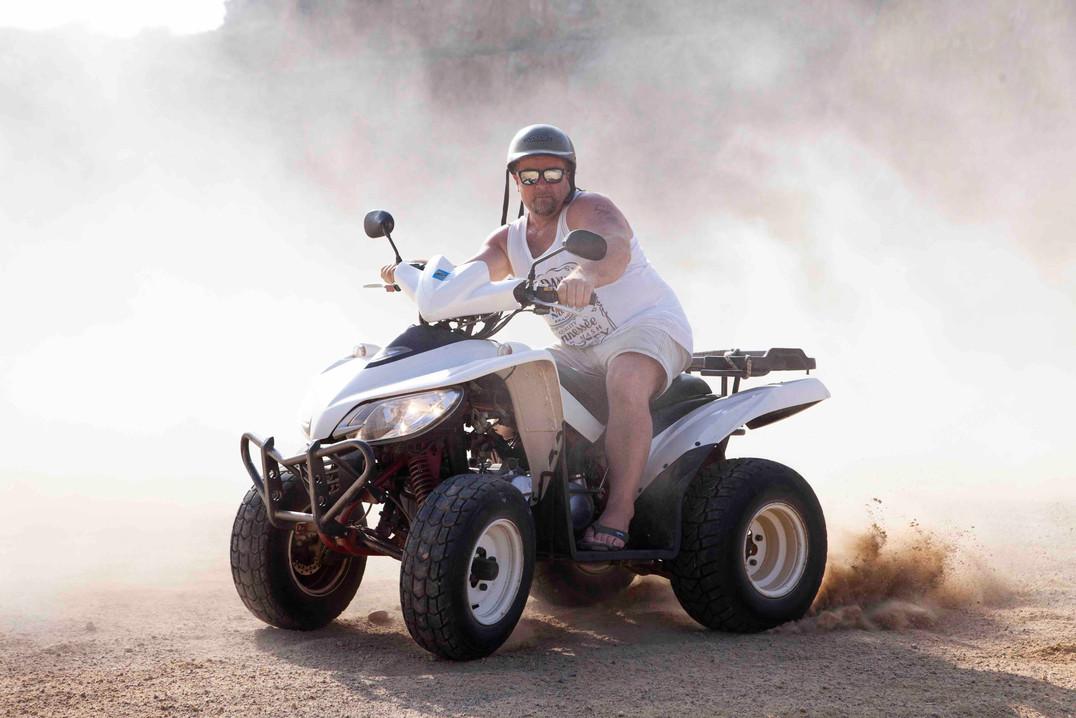 Kurt kjører ATV