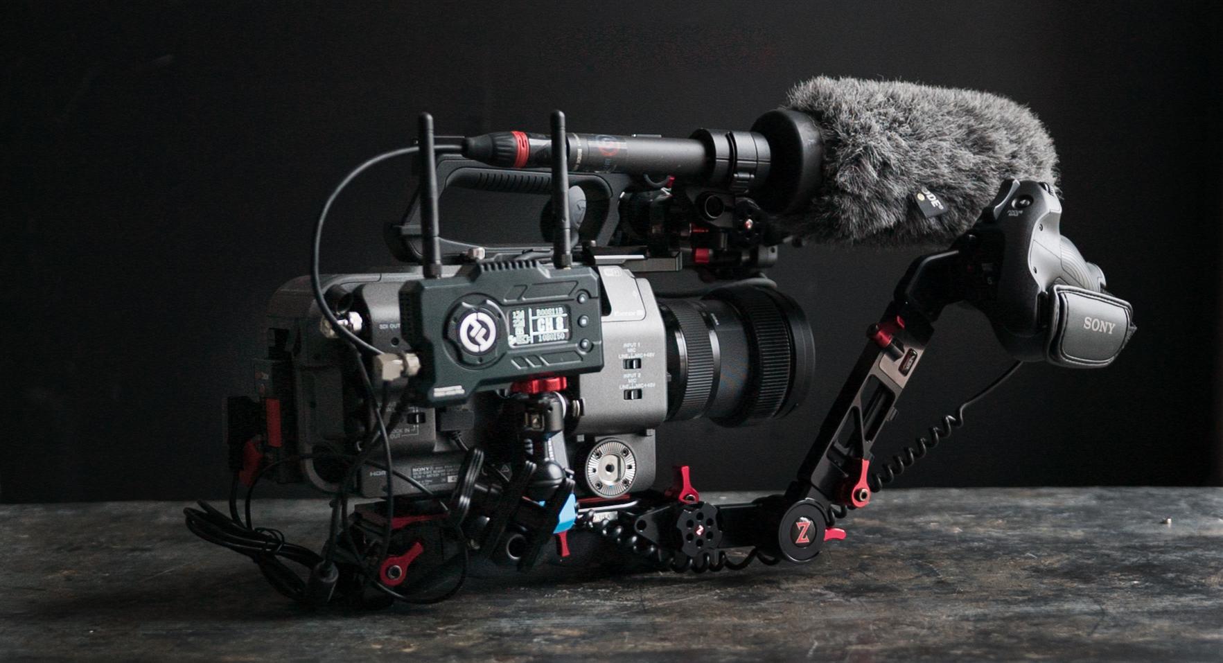 Sony FX9 med Mars 400 Pro sender