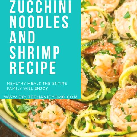 Zucchini Noodles and Shrimp Recipe