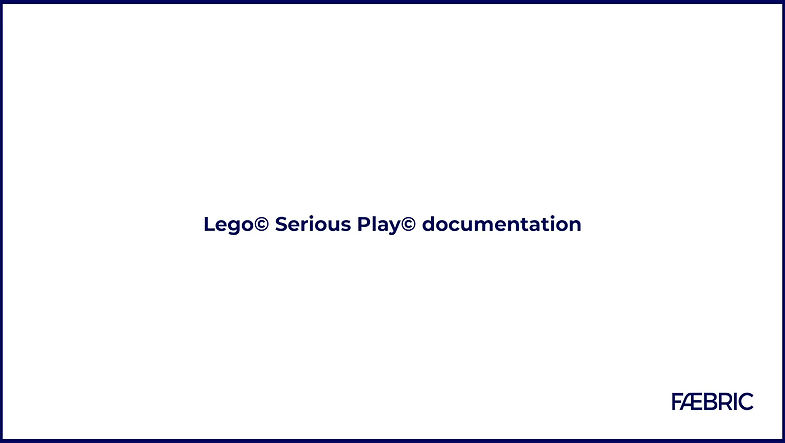 Lego Serious Play documentation