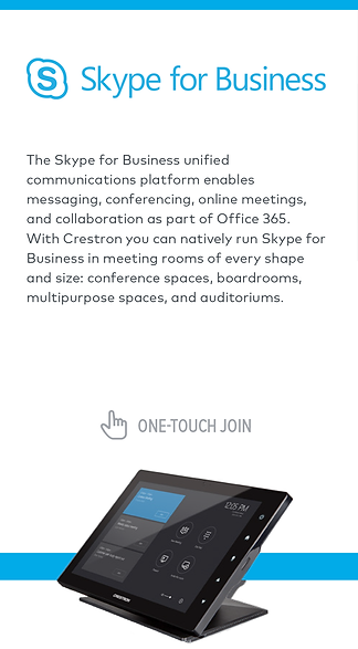 Crestron and Skype for Business