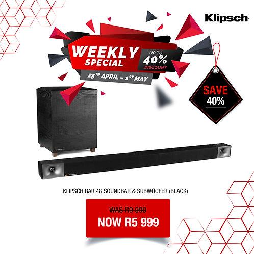 Klipsch Soundbar 48 and Subwoofer