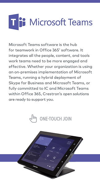 Crestron and Microsoft Teams