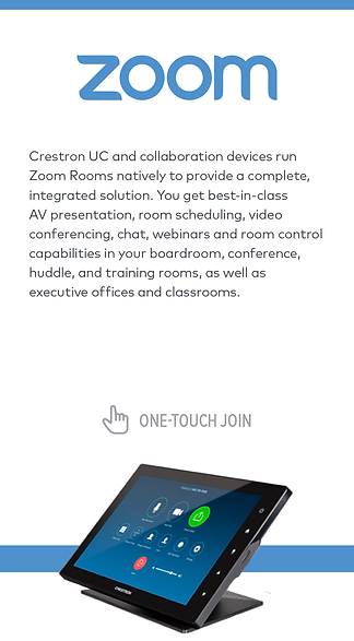 Crestron and Zoom Rooms