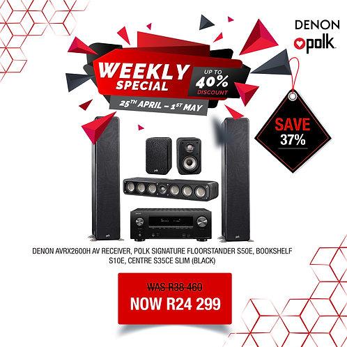 Denon AVRX2600H / Polk Audio Speaker System