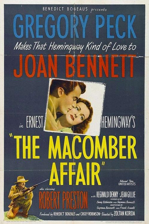 COVARDIA (the Macomber Affair, 1947)
