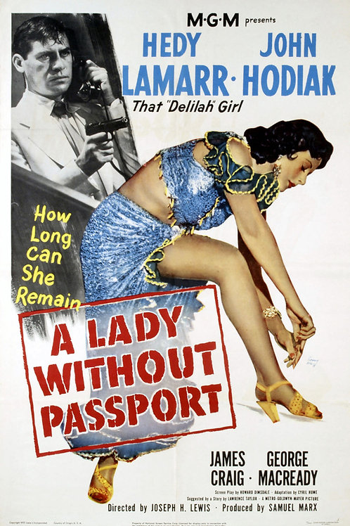 A MULHER SEM NOME (A Lady Without Passaport, 1950)
