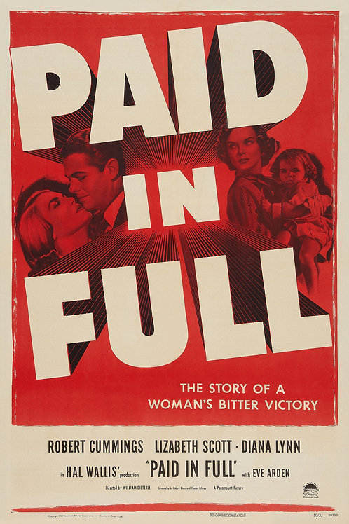 AMEI ATÉ MORRER (Paid In Full, 1950)