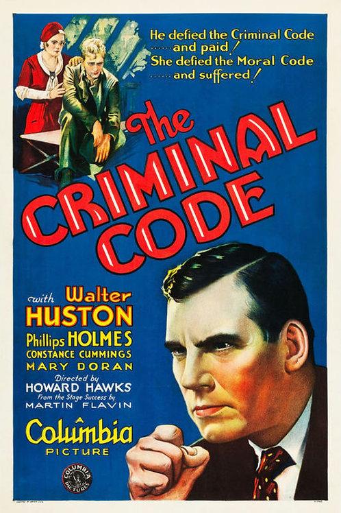 O CÓDIGO CRIMINAL (The Criminal Code, 1931)