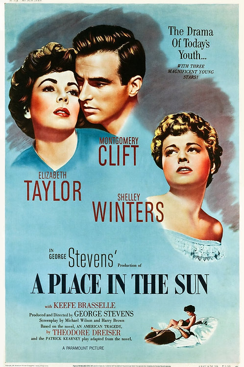 UM LUGAR AO SOL (A Place In The Sun, 1951) Blu-ray
