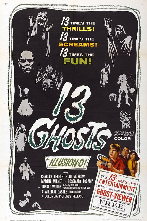 13 FANTASMAS (13 Ghosts, 1960)