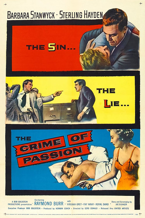 DA AMBIÇÃO AO CRIM (Crime of Passion, 1957)